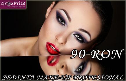 MAKE-UP PROFESIONAL la domiciliu cu 70% REDUCERE oferita de ARTISTUL ROXANA VISAN, la alegere dintre Make-up de zi, de seara, de ocazie, pentru sedinta foto sau pentru TV plus BONUS OPTIONAL: EXTENSII GENE la pretul de 35 RON