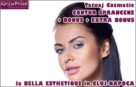 BEAUTIFUL EYEBROWS in CLUJ-NAPOCA, include Machiaj Permanent - Tatuaj Cosmetic Contur Sprancene + Bonus + Extra Bonus!