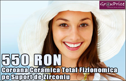 550 Ron - Coroana Ceramica Total Fizionomica pe Suport de Zirconiu @ IZY PERFECT SMILE!