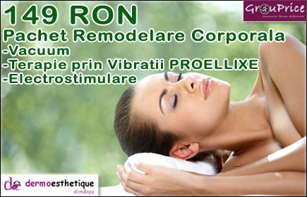 Remodelare Corporala ce include: Vacuum, Terapie prin Vibratii PROELLIXE, Electrostimulare @ DERMOESTHETIQUE SLIM SPA din IASI!