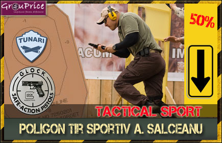 TRAGERE TACTICAL SPORT + Elemente teoretice specifice armei Glock + Armament pistol Glock model 34, calibru 9mm  Parabellum, munitie 20 cartuse la TACTICAL LIFE!