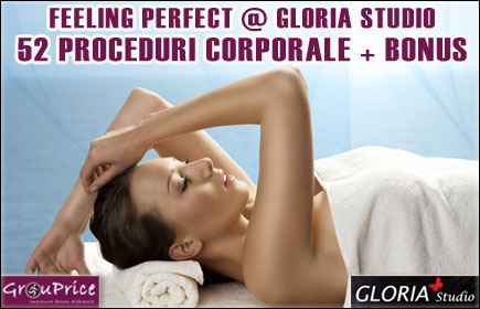 129 RON -  PACHET FEELING PERFECT  @ GLORIA STUDIO ce include 52 Proceduri Corporale si 2 BONUSURI !