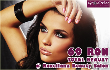 69 Ron - PACHET TOTAL BEAUTY ( include servicii de coafor, manichiura si cosmetica ) @ Roxellana Beauty - Salon