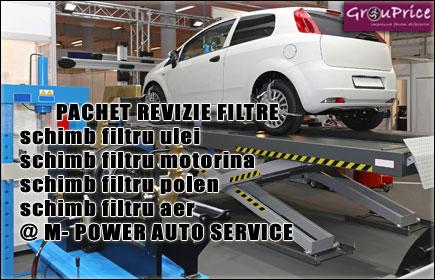 REVIZIE AUTO la numai 43 Ron, in zona Dristor! Schimb filtru ulei, schimb filtru ulei, filtru motorina, schimb filtru polen, schimb filtru aer @ M-POWER AUTO SERVICE