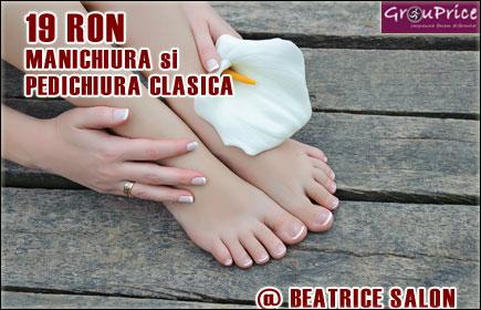 PACHET MANICHIURA si PEDICHIURA CLASICA @ SALON BEATRICE