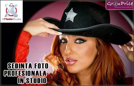 Sedinta Foto Profesionala in Studio, de o ora, cu aproximativ 150 de fotografii, pentru o persoana @ XMEDIA STUDIO