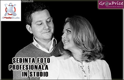 Sedinta Foto Profesionala in Studio pentru un Cuplu , de o ora, cu aproximativ 150 de fotografii @ XMEDIA STUDIO
