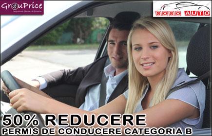 24 RON pentru Permisul Auto Categoria B cu 50% REDUCERE si in 5 RATE @ SOSO AUTO!  Beneficiezi de 24 ore Legislatie Rutiera si 30 ore de Condus!  Prima rata doar 130 RON!