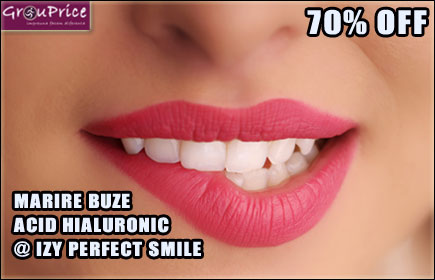ACID HIALURONIC - MARIRE BUZE, CORECTIE, CONTUR, VOLUM SAU RETUS @ IZY PERFECT SMILE