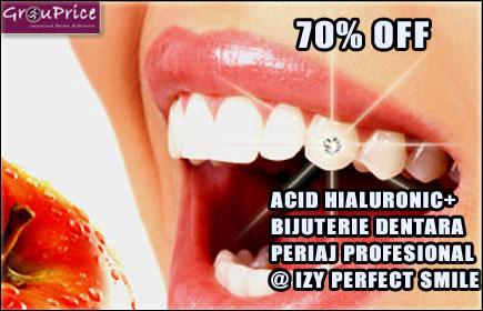 ACID HIALURONIC - MARIRE BUZE, CORECTIE, CONTUR, VOLUM SAU RETUS + PERIAL PROFESIONAL + BIJUTERIE DENTARA @ IZY PERFECT SMILE