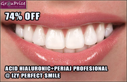 ACID HIALURONIC - EXTREMITATEA BUZELOR + PERIAJ PROFESIONAL@ IZY PERFECT SMILE