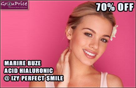 ACID HIALURONIC 1ML - MARIRE BUZE, CORECTIE, CONTUR, VOLUM SAU RETUS @ IZY PERFECT SMILE