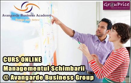 MANAGEMENTUL SCHIMBARII - CURS ONLINE @ Avangarde Business Group