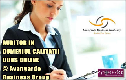 AUDITOR IN DOMENIUL CALITATII   - CURS ONLINE @ Avangarde Business Group