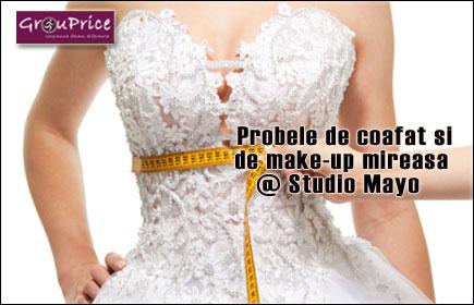 Probele de coafat si de make-up mireasa la un super pret @ Studio Mayo