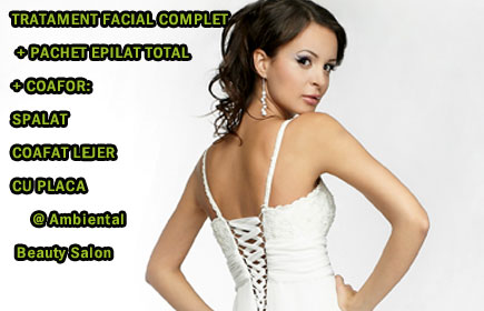 COAFAT LEJER (cu placa) + TRATAMENT FACIAL COMPLET + PACHET EPILAT TOTAL @ Ambiental Beauty Salon