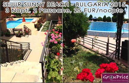 Petrece o vacanta de neuitat in Sunny Beach - Bulgaria in regim apart-hotel! Un spatios studio modern si complet utilat in Golden Eye Complex pentru 2 persoane si 3 nopti, acces gratuit la piscinile complexului, WIFI gratuit, paza asigurata si parcare inclusa! Beneficiaza de 50% reducere oricand pana in Octombrie 2015!