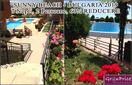 Vacanta de sapte nopti in Sunny Beach - Bulgaria in regim apart-hotel! Un spatios studio modern si complet utilat in Golden Eye Complex pentru 2 persoane, acces gratuit la piscinile complexului, WIFI gratuit, paza asigurata si parcare inclusa! Beneficiaza de 55% reducere oricand pana in Octombrie 2015!