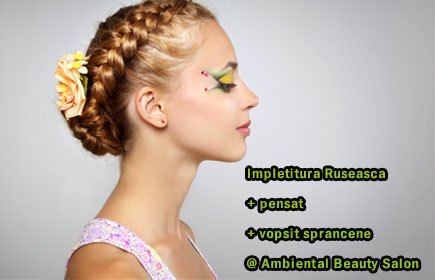 Impletitura Ruseasca + pensat + vopsit sprancene @ Ambiental Beauty Salon