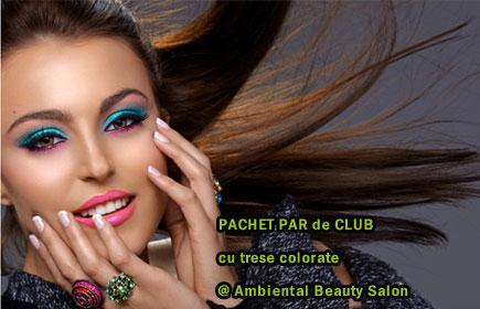 PAR de CLUB cu trese colorate la doar 49 Ron! Primavara asta se poarta culorile stridente in parul tau @ Ambiental Beauty Salon