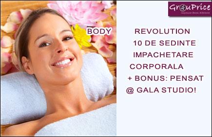 BODY REVOLUTION - 10 DE SEDINTE DE IMPACHETARE CORPORALA + BONUS: PENSAT @ GALA STUDIO!