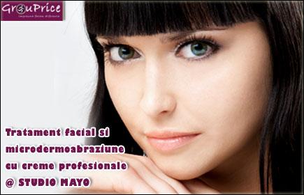 Tratament facial si microdermoabraziune cu creme profesionale @ STUDIO MAYO