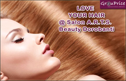 PACHET LOVE YOUR HAIR, include: Spalat, Tuns varfuri, Tratament,  Coafat, Styling profesional  @ Salon A.R.T.S. Beauty Dorobanti