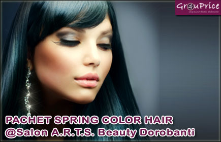 PACHET SPRING COLOR HAIR, ce include: Vopsit, Spalat, Tuns varfuri, Tratament,  Coafat, Styling profesional @Salon A.R.T.S. Beauty Dorobanti