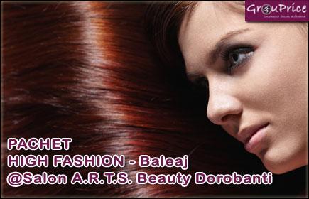 PACHET HIGH FASHION - Baleaj ce include: Vopsit, Spalat, Tuns varfuri, Tratament,  Coafat, Styling profesional  @Salon A.R.T.S. Beauty Dorobanti
