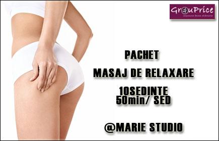 PACHET - 10 SEDINTE DE MASAJ @ MARIE STUDIO