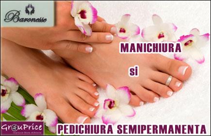 MANICHIURA si PEDICHIURA SEMIPERMANENTA - OFERTA de la Studio Baronesse, pentru UNGHIUTE CHIC in fiecare zi!