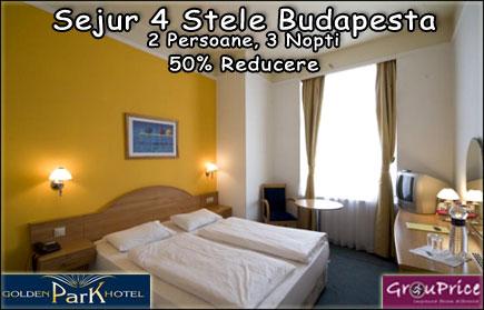 3 Nopti pentru 2 Persoane la Golden Park Hotel**** in centrul Budapestei cu Mic Dejun, Acces Nelimitat la Sauna, Centrul Fitness si Internet Wifi!