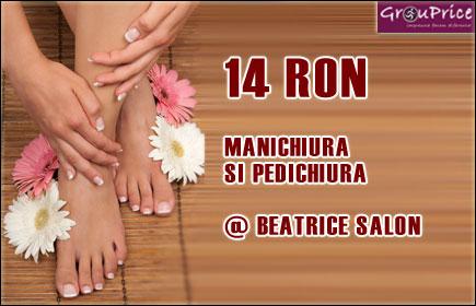 PACHET MANICHIURA si PEDICHIURA CLASICA + BONUS @ SALON BEATRICE