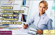 MANAGER ACHIZITII PUBLICE  - CURS ONLINE @ Avangarde Business Group