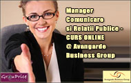 Manager Comunicare si Relatii Publice  - CURS ONLINE @ Avangarde Business Group