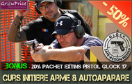 Curs de Initiere pe linie de Arme si Munitii si Modul Autoaparare + 20% REDUCERE la  Pachetul extins pistol Glock @ TACTICAL LIFE